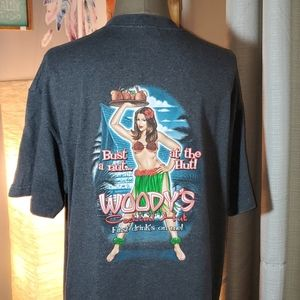 Mens woody's cocktail hut graphic t-shirt